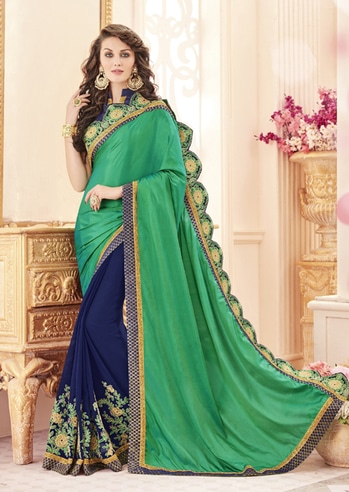 Party Wear Green & Blue Paper Silk Saree - 19980 @ Rs . 1859 /- Only  Buy Now : https://goo.gl/HL8XAs  Order On Whatsapp : 09321219977  Flat 10% OFF on First Order ( Use Coupon - IAMNEW10 ) Get Free Home Delivery + COD + Easy EMI + Easy Refund / Replacement Policy.!!  *100 % Customer Satisfaction * Stitching Service Available * Hurry Up To Grab Exciting Offer On storeadda !!!! * World Wide Shipping   #saree #designersaree #women-fashion #bollywoodfashion #sale #storeadda #partywear #fashionblogger #bloggerstyle #ethnicwear #bolg #half&halfsaree #designersaree #multi-colour #ethnicwearonline  #embroiderywork #silk #festivalstyle #festivalsale #festivalsaree #partywear #traditionalsaree #weddingwearonline #youtuber #ropostyle #summerfashion #onlineshopping #onlinedeals #onlineshop #womensaree #women-fashion #traditionallook #roposo-style #summer-style #bloglife #designer-wear #partywearsaree #women-branded-shopping #womanclothing