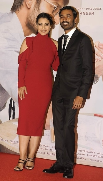 Kajol and Dhanush  https://myfashgram.com/celebrity/giving-us-the-cold-shoulder-kajol-looks-ravishing-in-red/  #kajol #dhanush #vip2trailerlaunch #men'sfashion #women-fashion #eid #eid2017 #eidmubarak