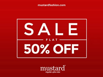 Rush to #Mustard #Sale 50% off on the auspicious day of #Eid and make it indeed. http://bit.ly/23Akoec
