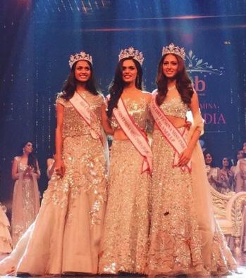 Manushi Chhillar from Haryana wins the title of Miss India 2017,Dress in a beautiful lehenga design by Manish Malhotra.
