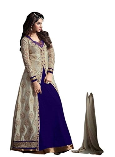 Alka Banglori Silk Fabric Embroidery Indo #Western #Dress Material For Women @ Rs.1299. Buy Now at http://bit.ly/2sTNhms