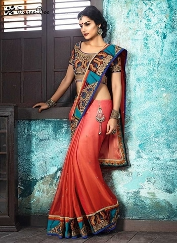 Peppy Red Fancy Fabric Classic   Patch border Designer Saree 3597    For More informaion WhatsApp 7202080091 Or Visit www.SareeBee.com   #lehengas #summer-fashion #summerfashion #bollywood #fun #dress #streetstyle #ethnic #designer #styles #travel #indianblogger #roposo #selfie #trendy #lookoftheday #summer #ropo-love #styling #fashionista #cannesfilmfestival #roposogal #shopping #blogger #cool #Womenonroposo  #summer-fashion #summerfashion #raabtathemovie #rocknshop #food #bollywood #fun #dress #ootd #streetstyle #ethnic #designer #styles #travel #indianblogger #roposo #selfie #trendy #lookoftheday #summer #ropo-love #casualvibes #styling #fashionista #cannesfilmfestival #roposogal #shopping #blogger #cool #menonroposo #ethnicwear  #eid2017 #eidmubarakh #Happynewyear
