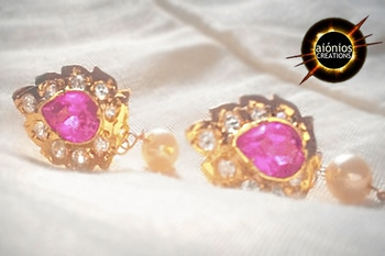 these earrings with pink stone engraved is love ! Buy them and make them yours ! one of the best sellers !HURRY UP !!  #aionios#aioniosceations#bridal jewellery#choker#Choker#classy#coin jewelry#designed#designer#diamond necklace#fashionjewelry#handcrafted#handmade#india#indian jewelry#JEWELLERY#Jewelry#jewelrymaking#lakshmi#lakshmiset #necklacedesigns#NecklaceSet #ootd#ott#Polkiset#temple jewellery#temple jewelry#set #trendy#trendalert#lookoftheday#picoftheday#fashionblogger#ordernow#booknow#shopnow#knowmore#roposolove#soroposo#picoftheday#lookoftheday