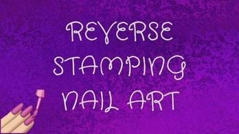 REVERSE STAMPING NAIL ART | FLORAL DESIGN  #nailart