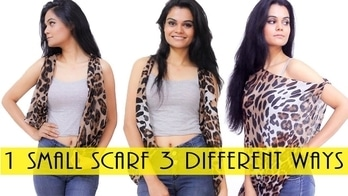 How To Style A Small Scarf In 3 Different ways | VaishaliSalve #fashion #hacks #diy #howtostyle #howtostylescarf  #scarves