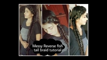 How to do reverse fishtail braid...  Watch tutorial on youtube 👉 https://youtu.be/b_pJ8g5_yyY  #indianyoutuber #indianblogger #youtuber #beauty #blogger #hairstyle #hairstyleforlonghair #easyhairstyles #hairstyle #fishtailbraid #howto #dutchbraid #bohemainhairstyle #cuteandeasyhairstyles #2017hairstyle #hairstyletrends #easyeverydayhairstyle #roposo #roposolove #soroposo #roposohairstyles