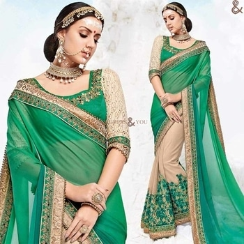 Likeable Green And Beige Georgette Indian Half Saree Having Half Sleeves  Click to Order:- http://www.designersandyou.com/saree-blouse/half-saree-blouse/likeable-green-and-beige-georgette-indian-half-saree-having-half-sleeves-6542  To VIew More Designs:- http://www.designersandyou.com/saree-blouse/half-saree-blouse  http://www.designersandyou.com/saree-blouse/half-saree-blouse/green  http://www.designersandyou.com/saree-blouse/half-saree-blouse/embroidered  http://www.designersandyou.com/saree-blouse/half-saree-blouse/stone-work  http://www.designersandyou.com/saree-blouse/half-saree-blouse/mehendi  http://www.designersandyou.com/saree-blouse/half-saree-blouse/green/art-silk/embroidered/boutique-style/mehendi  #HalfSareeBlouse #HalfSareesBlouseDesigns #HalfSareeBlouses #HalfSareesDesigns #HalfSareePatterns #DesignerHalfSarees #HalfSareesOnline #DesignersAndYou #BeautifulHalfSareesDesigns #CheapHalfSareesDesigns #CheapHalfSarees #HalfSareesPatters #EmbroideredHalfSarees #EmbroideredHalfSareesBlouse #Half #Sarees #Blouses #HeavyBlouses #EmbroideredBlouses #HeavyHalfSareesBlouse #HeavyHalfSareesBlouses #HeavyCheapSarees