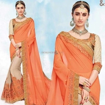Lovable Orange And Beige Georgette Embroidered Indian Half Sari  Click to Order:- http://www.designersandyou.com/saree-blouse/half-saree-blouse/lovable-orange-and-beige-georgette-embroidered-indian-half-sari-6543  To VIew More Designs:- http://www.designersandyou.com/saree-blouse/half-saree-blouse  http://www.designersandyou.com/saree-blouse/half-saree-blouse/brown/boutique-style  http://www.designersandyou.com/saree-blouse/half-saree-blouse/engagement  http://www.designersandyou.com/saree-blouse/half-saree-blouse/brown/lace-work/designer/engagement  http://www.designersandyou.com/saree-blouse/half-saree-blouse/embroidered/engagement  #HalfSareeBlouse #HalfSareesBlouseDesigns #HalfSareeBlouses #HalfSareesDesigns #HalfSareePatterns #DesignerHalfSarees #HalfSareesOnline #DesignersAndYou #BeautifulHalfSareesDesigns #CheapHalfSareesDesigns #CheapHalfSarees #HalfSareesPatters #EmbroideredHalfSarees #EmbroideredHalfSareesBlouse #Half #Sarees #Blouses #HeavyBlouses #EmbroideredBlouses #HeavyHalfSareesBlouse #HeavyHalfSareesBlouses #HeavyCheapSarees