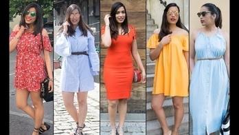 Must have dresses for Spring/Summer #dress #offshoulder #coldshoulder #shirtdress #maxidress #bodycondress #indianblogger #youtuber #like #subscribemychannel