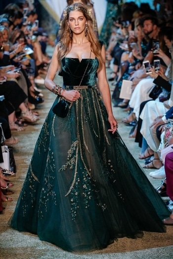Ellie Saab  for fall couture show in Paris. #Fall17 #international #fashionshow