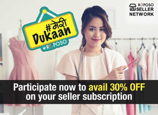 A sneak peek into your own shop! Post a picture of your dukaan on Roposo with #meridukaan sticker and avail FLAT 30% OFF on all seller subscription plans. Hurry, post now and begin your journey as a seller on Roposo! #meridukaan # ropososellernetwork #roposobusiness