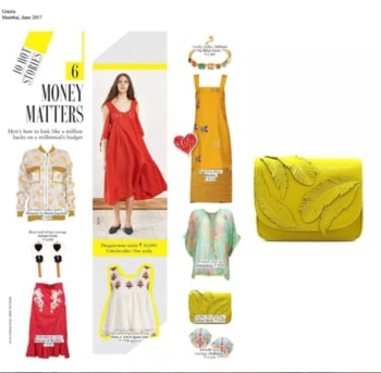 Lemonade feather clutch by #RashmiModi featured in #Grazia magazine June issue.  #dipublicrelations #webuildyourstory #lemonade #summerstaples #feathers #grazia #magazine #clutch #products #feature #diprloves #fashion #styles