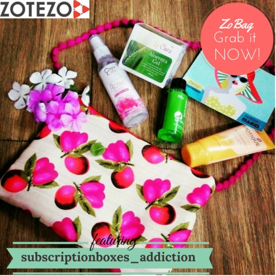 """This is literally the *most affordable subscription bag* in India at present and is also offering amazing skin care products which can be used by everyone. Even college/ school going girls can afford it. "" says @subscriptionboxes_addiction @akankshathakur8  #zobag #subscriptionboxinindia #subscriptionbox #subscriptionboxinindia #productreview #bblogger #delhiblogger #indianblogger #instablogger #aloevera #aloeveragel #rosewater #mist #biotique #sunscreen #mcaffeine #neem #caffeine #mostaffordable #affordable #honestreview #review #instapic #instagood #flatlay #pikreview #summerretreat #junezobag #julyzobag #beyourownqueen"