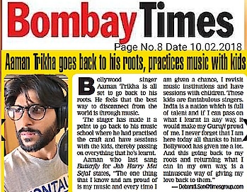 All these articles keep us motivated and encourage to work more for the industry ! #RockStar #AamanTrikha #OurPrideAamanTrikha  Thank you  @bombaytimes @timesofindia  @debaratipan  #aamantrikha  #aamantrikhamusic #music  #bollywood  #timesofindia  #bombaytimes