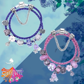 1. Purple Lilacs: Purple Pandora Style Leather Bracelet Combo Set with 10 Charms -- INR 1199  2. Pink Lilacs: Purple Pandora Style Leather Bracelet Combo Set with 10 Charms -- INR 1199  FREE GIFT: We include a silver plated chain necklace, since each charm in your bracelet can be used as a pendant to create a matching necklace 🎁 . Exquisitely made with the use of Triple-layered .925 Silver Sterling plating, Flawless pave setting of stones and Mirror polished for that perfect shine.  You can remove any charm you wish, add more or rearrange. Each Charm can be used as a pendant with your favorite necklace or a bracelet! 🙌 . Bracelets ship in beautiful gift boxes (ready for gifting) . The bracelets are available for immediate shipping 🎉🎉🎉 . ☑ PayTM ☑ All Debit cards, Credit cards ☑ Bank Transfer, UPI ☑ Shipped within 24 hours ☑ Shipped by courier with online tracking . Order online (Link to webstore is in bio ☝) or WhatsApp us at +91 8882 80 8883  #limitedstock #grabitsoon #fashion #purple  #instaindia #winelove  #butterfly #pandorainspired #fashionlovers #grapes #beautiful #mondaymotivation #lovelovelove #bracelet #love #winelover #purple #braceletsoftheday #bracelets #dragonfly #humpday #instagood #charmbracelet #charms #luckycharm #clover #fourleafclover #lovers #pandorastyle #indianwine #rocknshoplookbook #chilling #swag #nature #rocknshop #streetstyle #instagram #lookoftheday #selfie #cool #ropo-style #trendy #summer #shopping #aselfieaday #makeup #roposogal #blogger  #fashionista #outfitoftheday #roposolove #indianblogger #traveldiaries #beauty #styles #roposo #black #1moreselfie #fashion #menonroposo #violet #lilacs #leatherbracelet