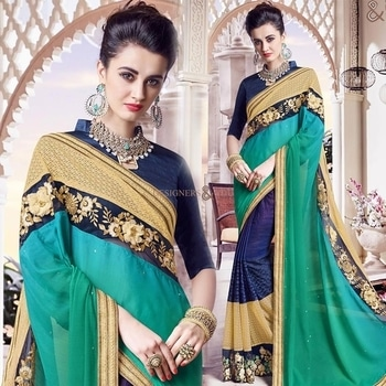 Engaging Green And Blue Georgette Half And Half Sari With Gota Blouse  Order Here:- http://www.designersandyou.com/saree-blouse/half-saree-blouse/engaging-green-and-blue-georgette-half-and-half-sari-with-gota-blouse-6667  To View More Saree Blouses Collection: http://www.designersandyou.com/saree-blouse  To View More Half Saree Blouses Collections:- http://www.designersandyou.com/saree-blouse/half-saree-blouse  To VIew Blue Half Sarees:- http://www.designersandyou.com/saree-blouse/half-saree-blouse/blue  To VIew Lace Work Half Sarees:- http://www.designersandyou.com/saree-blouse/half-saree-blouse/lace-work  #HalfSareeModels #Designersandyou #HalfSareeBlouseDesign #FancySareesWithPrice #HalfSareeCollection #HalfSareesDesign #HalfSareesModels #HalfSareeDesigns #LatestSareesFashions #FancySareesOnlineShopping #SareeDesignPatterns #HalfSareesCollection #HalfSareesCollections #DesignerHalfSarees #DesignerHalfSaree #HalfNHlafSarees #HalfSarees #HalfSarees #HalfSareesBlouseDesigns #HalfSareesOnline #EmbroideredHalfSarees