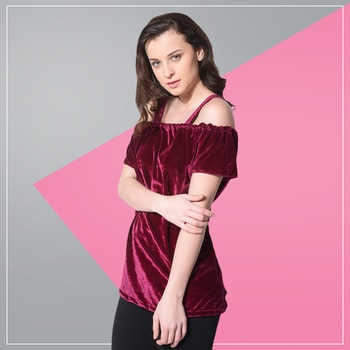 Maroon with a touch of velvet- a must have combo you should buy!  Shop Now : http://bit.ly/2vi1lac #Maroon #Velvet #Outfit #ootd #potd #lookbook #fashionista #fashiongram