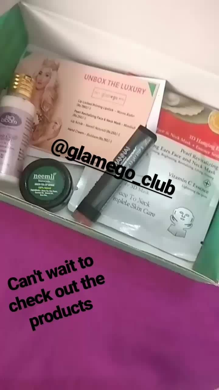 Happiness is to receive a box of luxury and unbox it 😍 How many of you all agree with me? 💓💓💓 .  .  .  .  .  .  .  .  .  .  .  .  #thekardashianclan #fashionblogger #beauty #blogger #glamegobox #glamego #subscriptionbox #luxurybox #makeup #skincare #natural #crueltyfree #neemli #mannakadar #mondsub #biobloom #influencer #socialinfluencer #indianbloggingcommunity #popxoblogger #makeuplover #beautyaccount #beautyblog #bbloger #fbblogger #pikreviewblogger #htblogger #like4like #followforfollow