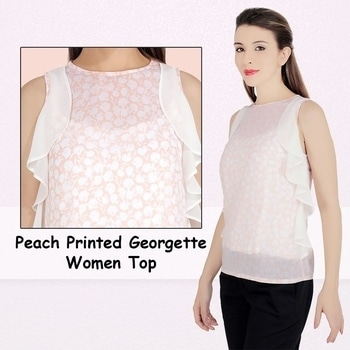 Look elegant and create a new style #peach #summer-style  #westernwear #trendycollection  #missgudi