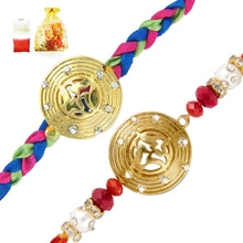 #Traditional #Combo of #two Delightful  #Rakhis with #crystal for #brothers #madeinindia  Price :199; Ships Free ; COD Available Brass Alloy Gold Plated #fashionjewellery ; #traditional  Buy here : https://www.mahijewellery.com/index.php/combo-of-two-delightful-rakhis-raksha-sutra-for-dearest-brothers.html Call 7718862092