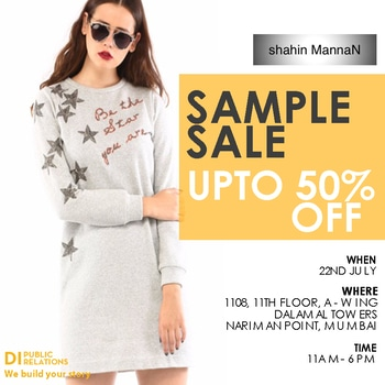 Shop #shahinmannan 's quirky styles TOMORROW at the #diprsamplesale at upto 50% off!!  #14designers #samplesale