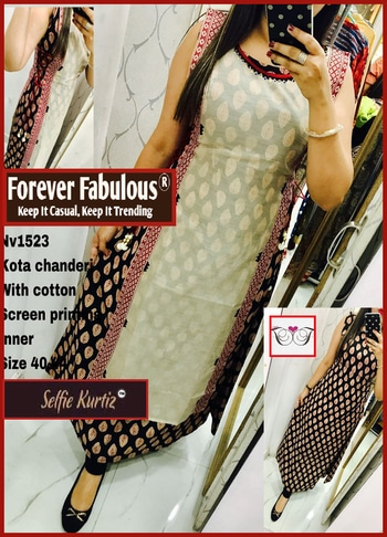 ForeverFabulous® ***In-Store Selfie Articles***  #SelfieKurtiz #SelfieKurtis #FabKurtis  All India Prepaid & Cash On Delivery Available!  Like Us On https://www.Facebook.com/ForeverFabulousIndia/  FaceBook Group Link :  https://www.Facebook.com/groups/ForeverFabulousBoutique/  WhatsApp Direct Link : https://chat.whatsapp.com/3jajeQcm4t56sAAEE13ipX  Watch Us On : https://www.youtube.com/channel/UCG42E50QJWWbeBsYa5nD4KQ