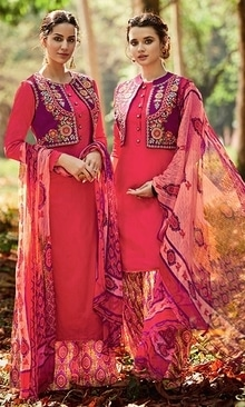 Red Georgette Printed Straight Cut Suit  • Georgette Printed Straight Cut Suit • Fabric : Cotton Satin • Salwar Fabric : Cotton Satin • Dupatta Fabric : Chiffon • Size : Semi-Stitched (customizable Upto size-44)  SKU: SUEBRKIM7511 Rs. 3,499.00