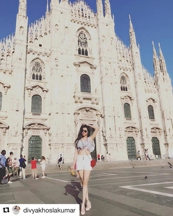 Summer goals with this beauty in our Rainforest Blouse ❤️ @divyakhoslakumar  SHOP NOW 👉🏾 www.thejodilife.com  #Repost @divyakhoslakumar (@get_repost) ・・・ Sending fr u all my lovelies 😘💕a postcard frm the heart of Italy #milan #milancathedral #divyakhoslakumar #loveuall 🤗 .... wearing @thejodilife top #summerholidays #indianhighstreetwithaheart  #ajodimonsoon #thejodilife