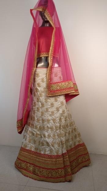 Cream and bright pink lehenga choli   http://www.trinjhann.com/product/tril0013/ wtsapp : 9876143105  1)Flat 10% off on first order 2)100% customer satisfaction 3)Hurry up to grab exciting offer on Trinjhann 4)World wide shipping  #cream #brightpink #bridal #partywear  #receptionwear #lehengas #buynow #trinjhann #store #forwomen #ethnicwear #shop #women-fashion #onlineshoppingindia #ethnicity #freeshipping #worldwideshipping #shopnowonline #lehengalove #weddingbride   #embroidered  #sale #salealert #ethnic #picoftheday #styles #shopping #beauty #fashion #outitoftheday ##fashionblogger #blogstyle #blogging #fashionblog #fashionbloggerindia #indianstyle #salwarsuit #dressmaterial #salwarkameez #ethnicwear   #georgette #salwarsuit #lehenga #lehengacholi    #ethnicwearonline   #roposo #youtuber #woman-fashion #womansequality #partywearlehengas #partywearshopping #wedding-suits-designer #traditionalwedding