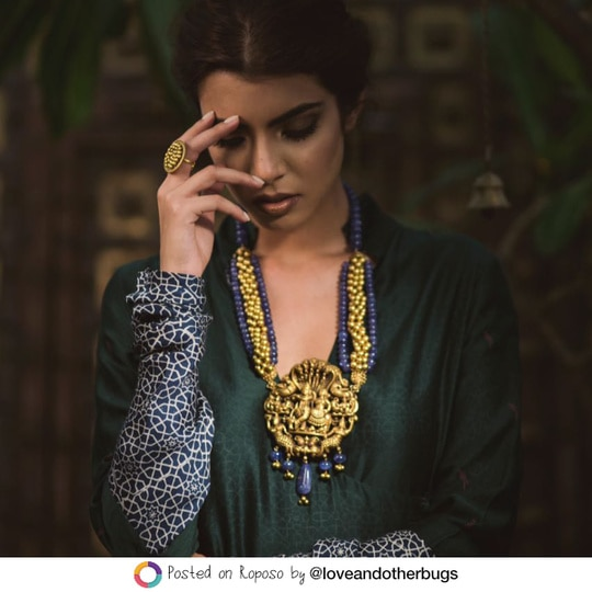 No ethnic look is complete without a healthy dose of bling! Head to the Know More button for stunning jewellery pieces that are perfect for the up-coming wedding season. #SoRoposo #Roposo @loveandotherbugs