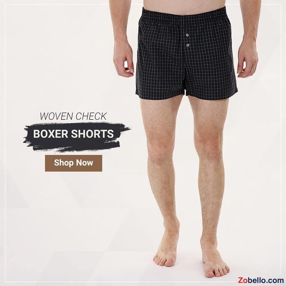 Boxers that spoil you with comfort. Shop woven boxer shorts for men @ https://goo.gl/TT4Bfv #zobello #underwear #boxers #shopping #menswear