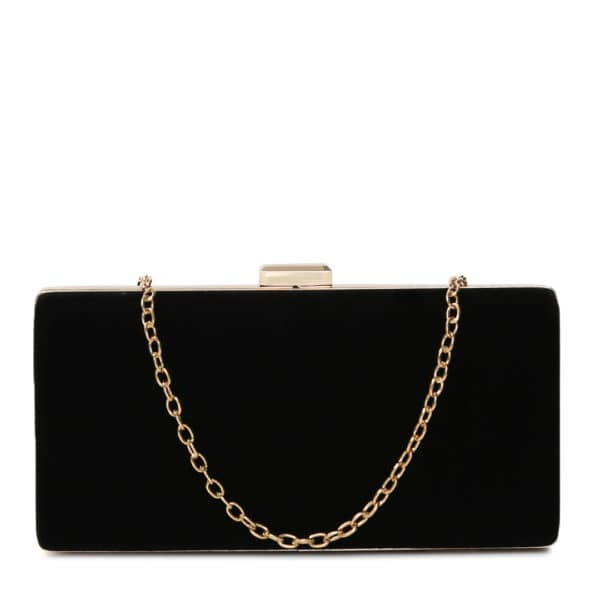 BLACK BOLD BOX CLUTCH Constructed with a twist clasp closure, this box clutch with a detachable metallic chain strap and spacious interior presents the perfect melange of glamourous styling and classic, timeless appeal. #toniqaccessories #toniq #party #bags #stylish #weekendvibes #instafashion #instagood #newcollection #texture #instafashion #onlineshopping #cod