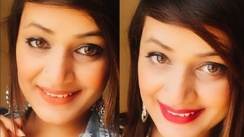   Super easy makeup look for college    two lipstick option    two eye makeup     #AishnaChandra watch her videos. do like and subscribe the channel.