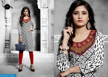 PRODUCT CODE: WAFER WHOLESALE READY MADE KURTIS Catalog pieces: 12 Full Catalog Price: 3300 + 165 (5% GST) Price Per Piece: 275 + 14 (5% GST) MOQ: Full catalog Shipping Time: 4-5 days Sizes: M L XL XXL  LINK:- https://textiledeal.in/wholesale-product/9696/Wafer-Wholesale-Ready-made-kurtis  company name:-textiledeal for more information feel free to call or whatsapp:-+91-9426089844  #NICE Fabrics cotton #fabulous ready made kurtis collection #good-looking kurtis  #attractive designer kurits