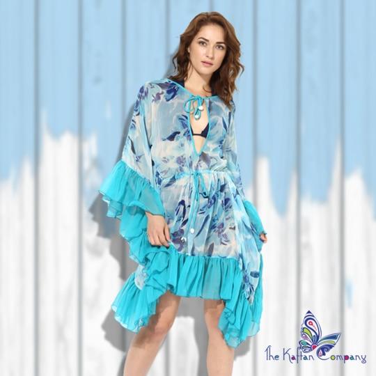 Get ready for a sunday brunch by the pool or a beach party with this flirtatious & vivacious beach dress kaftan. Limited collection. Order Now - https://goo.gl/wwcQjP #kaftan #kaftancompany #brunchwear #resortwear #beachwear