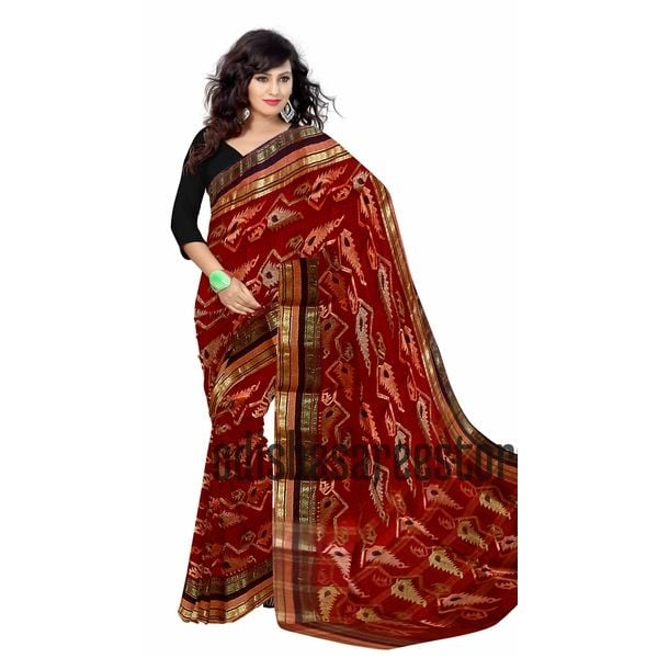 Traditional hand woven #TantJamdani sarees of Bengal online. Buy this beauty at: http://ow.ly/jFLt30e0nb5