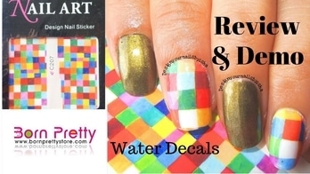 |Born Pretty Store|  Review for Water Decals  | Designyournailsbyisha Review for Colourful Water Decals from @bornprettynail  http://www.bornprettystore.com/ 🔸Use BHTX31 for 10% off  Direct Link for Water Decals:  http://www.bornprettystore.com/colorful-square-water-decals-charming-nail-transfer-stickers-p-21780.html  Item ID: 21780  #designyournailsbyisha #ishanailart #bornpretty #nails #nail #nailart #notd #art #design #nailfashion #photography #manicure #nailblogger #bblogger #youtuber #review #soroposo #waterdecalsreviewanddemo #reviewanddemo #bornprettywaterdecals #roposonails #instanails