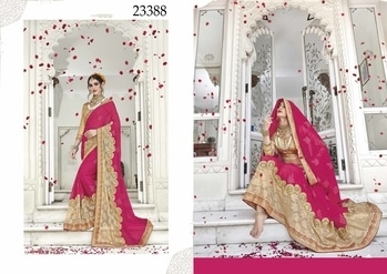 #looksfab #Cherry & #Beige  #Colored #Crepe & #Net #saree.  #like , #comment, #share #looksfab   Comment or Whatapps +918097775536  #Grab #rakshabandhan  #offer on #clothing.