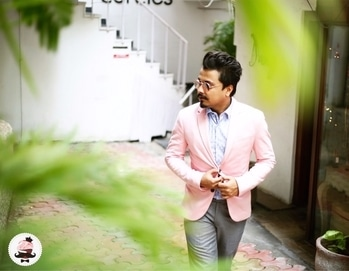 #pastel #blazer with my favourite grey trouser and blue shirt..... hope you guys will like the outfit and will appreciate