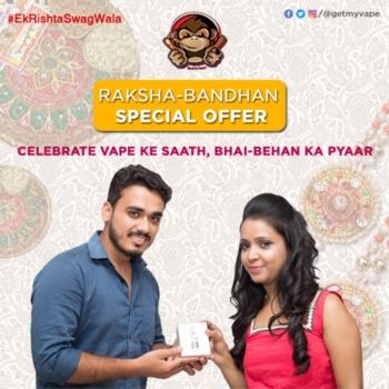 Raksha Bandhan Special Offers Coming Soon. Stay Tuned to getmyvape.com. Celebrate Vape Ke Sath, Bhai-Bahan Ka Pyaar. #EkRishtaSwagWala #QuitSmoking #StartVaping #GetMyVape