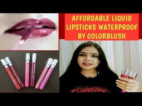 AFFORDABLE LIQUID WATERPROOF LIPSTICK, COLORBLUSH #lipstick #makeup #colorblush #liquidlipsticK