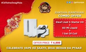 Grab our Raksha Bandhan Mega Offer! Celebrate Vape Ke Sath, Bhai-Bahan Ka Pyaar. #EkRishtaSwagWala #QuitSmoking #StartVaping #GetMyVape  To order visit our site www.getmyvape.com. :)