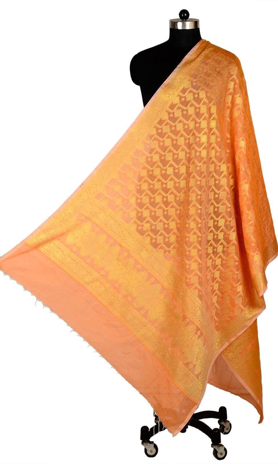 Orange Color Banarasi Silk Dupatta  • Pure Banarasi Silk Dupatta • Fabric : Banarasi Silk • Dupatta Size : 100 inches X 36 inches  SKU: DUP0074-Orange Rs. 999.00  #IndependenceDay