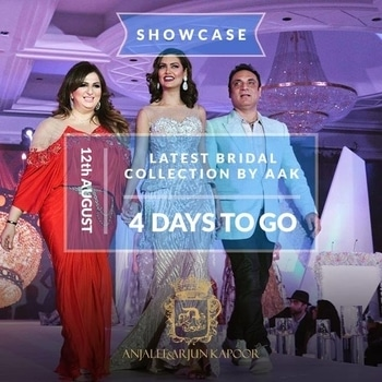 Just 4 days to go for our #LatestBridalCollection 2017 Showcase at Hotel Roseate, Aerocity, New Delhi and we can't keep calm. You would witness the year's #LatestBridalCollecition showcase by #AnjaleeAndArjunKapoor #AAk on August 12th. #topfashiondesigners #anjaleeandarjunkapoorcollection #indiandesignerwear #weddingdressdesigners #indianbride #weddingoutfit #indiandressdesigners #bridalcouture #vlccstylestatements #vlccindia #vlcclook2017