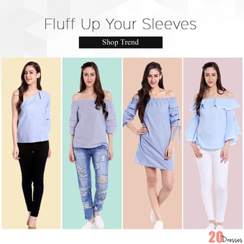 Wear them Ruffled, Wear them Off the shoulder, the exaggerated sleeve trend has become the closet staple among the style conscious! #20dresses #20d #postoftheday #picoftheday #pickoftheday #online #onlineshopping #ecommerce #tops #apparel #exaggeratedsleeves #trending #clothingline #clothingbrand #styleinspo #stylish #fashionaddict #fashionista #shopoholics