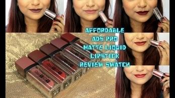 Cheapest Liquid Matte Lipstick in India #2| ADS Pro Matte Liquid Lipstick Review & Swatch