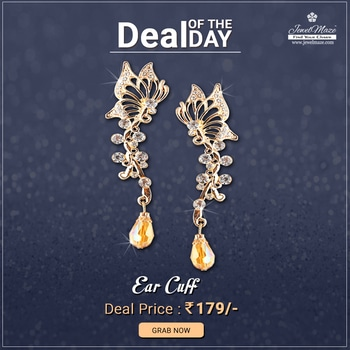 😍 Deal Of The Day  😍 #Urthn Austrian Stone Gold Plated Single Ear Cuff @ Rs.179/- Shop Now: https://goo.gl/xt62Hj #buyonline #Dealoftheday #Jewellery #Earcuff #Stone #JewelMaze