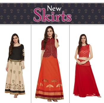 New arrivals - SKIRTS  http://bit.ly/2vHnIJo  #9rasa #studiorasa #ethnicwear #ethniclook #fusionfashion #online #skirt #newarrivals