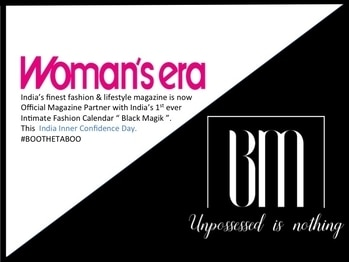 """Happy to announce. India's finest fashion & lifestyle magazine """" Womens Era """" is now official Magazine Partner with India's !st Ever Intimate Fashion Calendar """" Black Magik """". Get Possessed this """" India Inner Confidence Day """". #BooTheTaboo #IIFWIndia #IIFW #IndiaIntimateFashionWeek #BlackMagik #BlackMagikByIIFW #IntimateFashion #WomensEra #DelhiPress #Lingerie #SwimWear #BeachWear"""