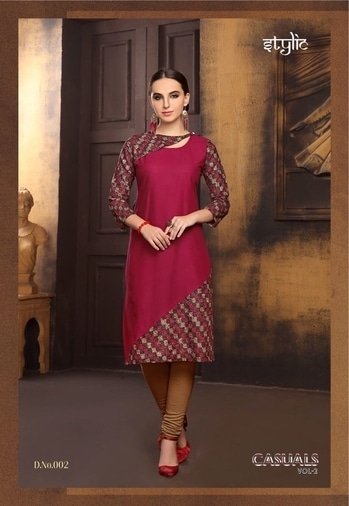 STYLIC CASUALS VOL 2 WHOLESALE PARTY WEAR KURTI For info You Can #Contact Or #Whatsapp On :9687533166 Email: textilebazar299@gmail.com